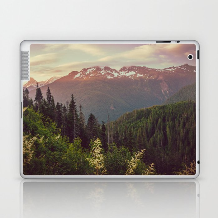 Mountain Sunset Bliss - Nature Photography Laptop & iPad Skin