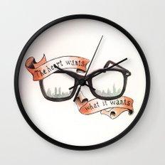 The Heart Wants What It Wants Wall Clock