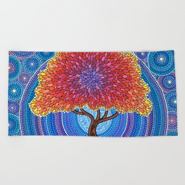 Autumn Blossoms Beach Towel