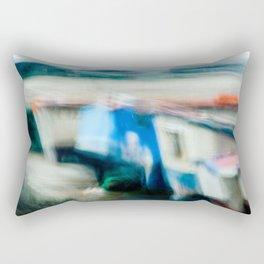 Boats Painting Rectangular Pillow