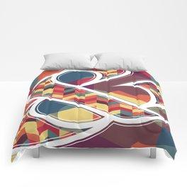 Chevron Ampersand Comforters