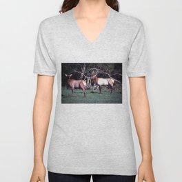 Roosevelt Elk Unisex V-Neck