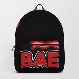 Baecon funny motif shirt design Backpack