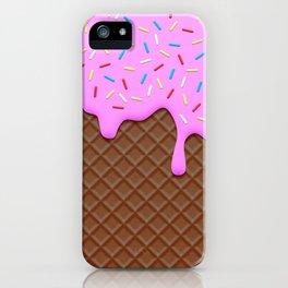 Chocolate and Strawberry Icecream iPhone Case