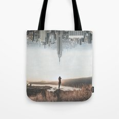 Between Earth & City Tote Bag