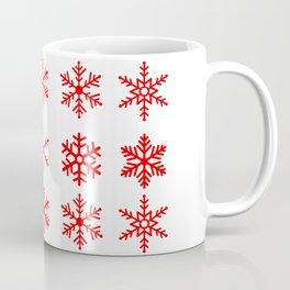 red snowflake seamless pattern Coffee Mug