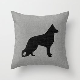 German Shepherd Dog Silhouette(s) Throw Pillow