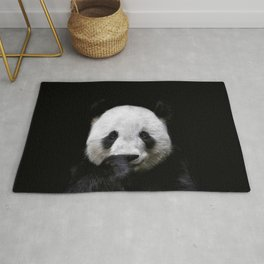 Cute panda bear portrait  Rug