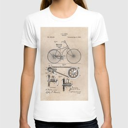 patent Bicycle 1890 Rice T-shirt
