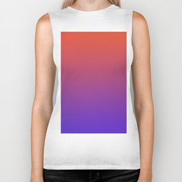 STEAM SCENE - Minimal Plain Soft Mood Color Blend Prints Biker Tank