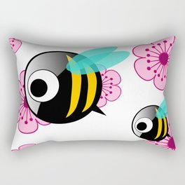The first Bee Buzz of Spring Rectangular Pillow