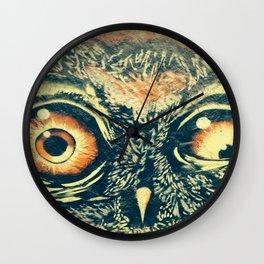 Buho owl animal graffiti drawing Wall Clock