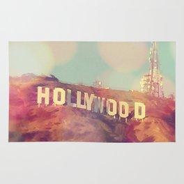 Hollywood Sign, Los Angeles, California - Photograph Rug