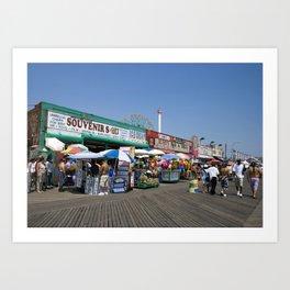 Coney Island Boardwalk Art Print