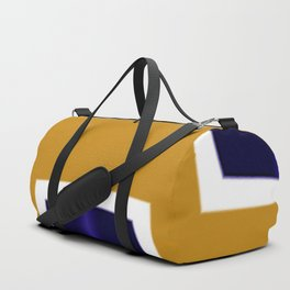 Yellow and Blue Abstract Art Duffle Bag