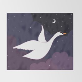 Follow the Pretty Bird Across the Sky Throw Blanket