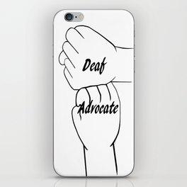 Deaf Advocate iPhone Skin