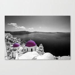 Santorini magenta Canvas Print