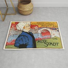 German artisanal art expo Dresden 1896 Rug
