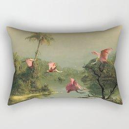 Spoonbills in the Mist Rectangular Pillow
