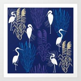 Herons Art Print
