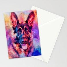 Jazzy German Shepherd Colorful Dog Art by Jai Johnson Stationery Cards