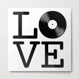 DISC LOVE Metal Print