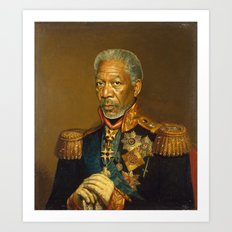 Morgan Freeman - replaceface Art Print