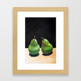 Still life - Pears Framed Art Print