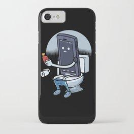 Smartphone Toilet Humor Cheeky Handy Bathroom Bath iPhone Case
