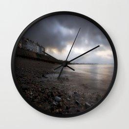 Criccieth beach Wall Clock