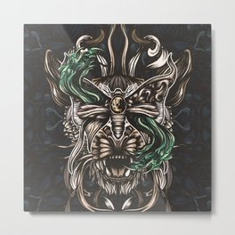 Moth and tiger Metal Print