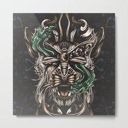 Moth and tiger Metal Print