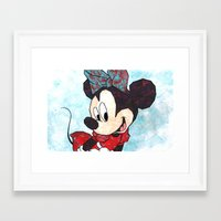 minnie mouse Framed Art Prints featuring Minnie Mouse Fan Art by DanielleArt&Design