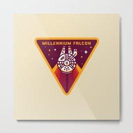 Millennium Falcon YT-1300  Pilot Patch Metal Print