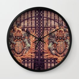 Royal Coat of Arms on the Gates of Buckingham Palace London Wall Clock