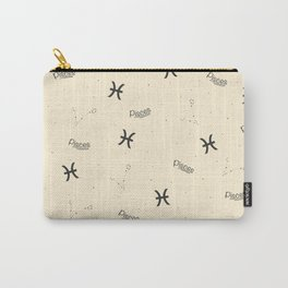 Pisces Pattern - Beige Carry-All Pouch