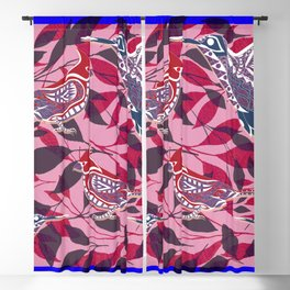 lovely bird cage ecopop Blackout Curtain