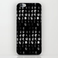 mythology iPhone & iPod Skins featuring Moon Cycle Mythology by Rhymes With Sky