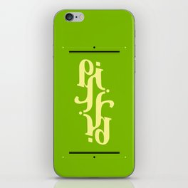 Type Foundry - Cambria Bold Italic iPhone Skin