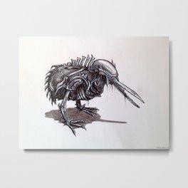 Kiwi Xenomorph Metal Print