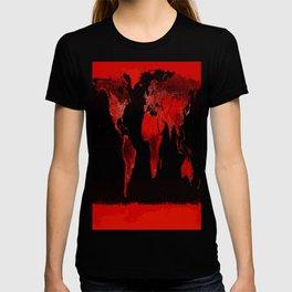 WORLD map : Red T-shirt