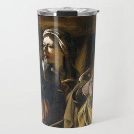 The Denial of Saint Peter by Caravaggio (1610) Travel Mug