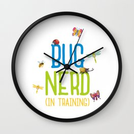 Kids Bug Nerd Insect Hunter Kid Gift Wall Clock