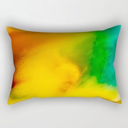The Fall is Coming -  Abstract Ink and Resin Art Rectangular Pillow