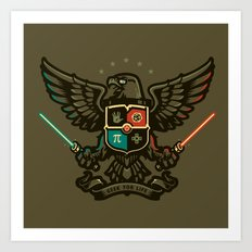 Geek For Life Art Print
