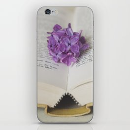 Lilac Bookmark II iPhone Skin