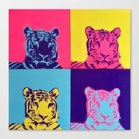 tigers Canvas Prints featuring Tigers by retnemrapS