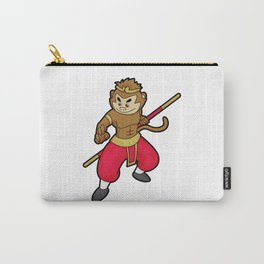 Monkey as Warrior with Staff & Headband Carry-All Pouch