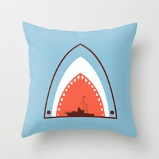 Great White Attack Throw Pillow